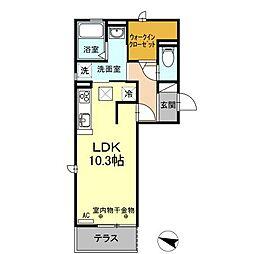 (仮)D−room刈谷市南桜町[303  号室]の間取り