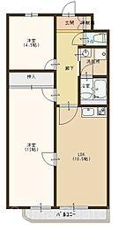 ラポール百舌鳥[2階]の間取り