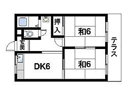 東有紀マンション[1階]の間取り