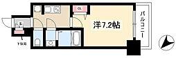 ADVANCE NAGOYA MOXIE 4階1Kの間取り