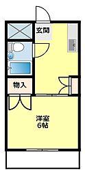 福岡ワンル−ムマンション[303号室]の間取り