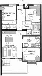 LANAI HILLS 26 2階[2階]の間取り