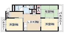 愛知県名古屋市緑区鳴海町字小松山の賃貸マンションの間取り