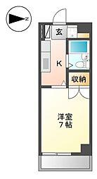 クレストステ−ジ平安[3階]の間取り