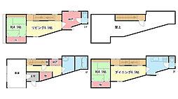 [一戸建] 兵庫県神戸市灘区永手町2丁目 の賃貸【/】の間取り