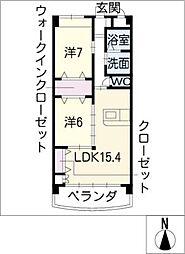 SUNTA UNITE[4階]の間取り