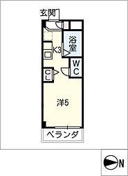 シャトー岐大 A棟[1階]の間取り