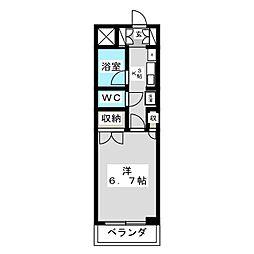エトワール青森第1[2階]の間取り