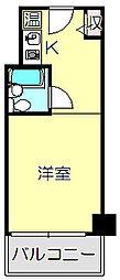 東京都品川区小山1丁目の賃貸マンションの間取り