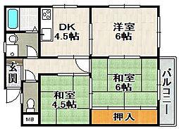 村上マンション[3階]の間取り
