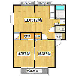 サンハイツIII[2階]の間取り