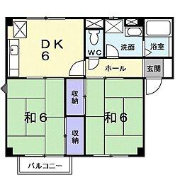 静岡県浜松市中区和合北1丁目の賃貸アパートの間取り