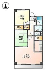 City House白壁[3階]の間取り