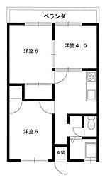コーポ石塚II[1階]の間取り