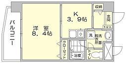 エスケイコート住吉[6階]の間取り
