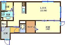 サンシャインS A棟B棟[103号室]の間取り