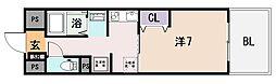 ラ・フォーレ久宝園[6階]の間取り