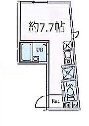 京王井の頭線 三鷹台駅 徒歩12分の賃貸アパート 2階ワンルームの間取り