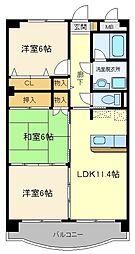 ラ・フォーレ富沢[3階]の間取り