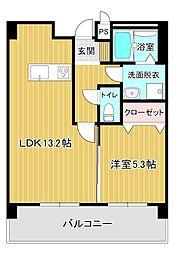 Foyer徳光(フォワイエ) 2階1LDKの間取り