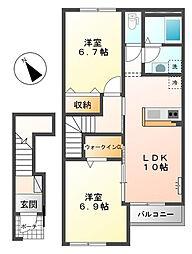 仮)スターテラス寺家[2階]の間取り