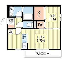 新潟県新潟市中央区弁天橋通3丁目の賃貸アパートの間取り