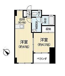 第一暘ビル[402号室]の間取り