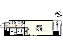 JR山陽本線 広島駅 徒歩20分の賃貸マンション 8階1Kの間取り