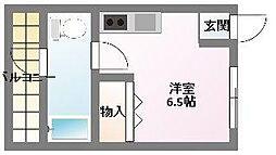 レジデンス魚住[2階]の間取り