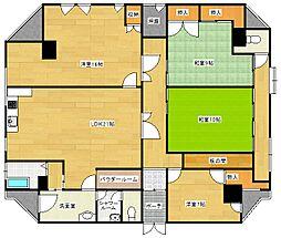 パークサイドマンション[6階]の間取り