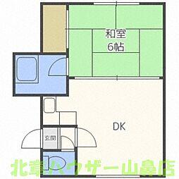 睦和ハイツ3号館[2階]の間取り