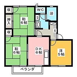 ガルテン26 E棟[2階]の間取り