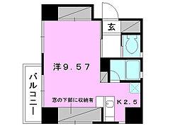 スリースターズマンション[602 号室号室]の間取り