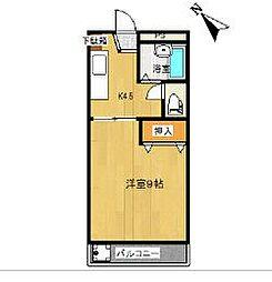 海南ベース(旧さくらんぼ) K[207号室]の間取り