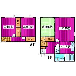 [テラスハウス] 北海道札幌市北区篠路三条8丁目 の賃貸【北海道 / 札幌市北区】の間取り