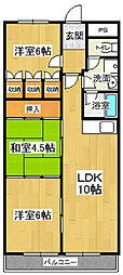 第十五柴田マンション[603号室]の間取り
