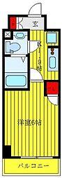東京メトロ丸ノ内線 後楽園駅 徒歩8分の賃貸マンション 6階1Kの間取り