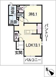 リバティ I[1階]の間取り