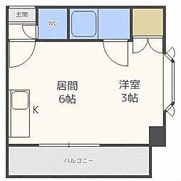 コーポH・S東札幌[3階]の間取り