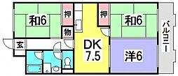 第2鈴峰ビル[3階]の間取り