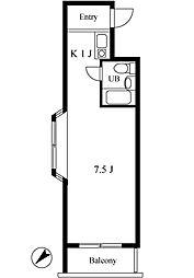扶桑ハイツ四谷[3階]の間取り