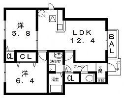 ユニメゾンH・M 2[102号室号室]の間取り