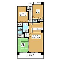 東仙台六番館[1階]の間取り