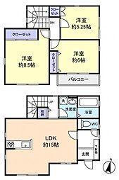 [一戸建] 千葉県船橋市西習志野2丁目 の賃貸【/】の間取り