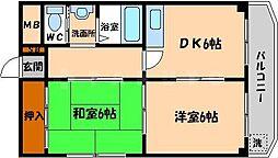 松下都島マンション[2階]の間取り