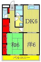 A−ONEビレッジ[3階]の間取り