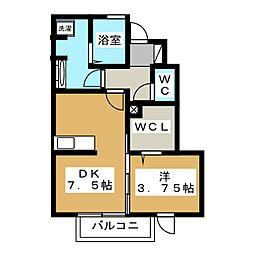 スカイフローラ[1階]の間取り
