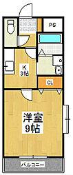 エトワール・チサ[2階]の間取り