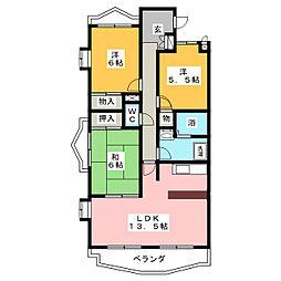 アンシャンテ印場[2階]の間取り