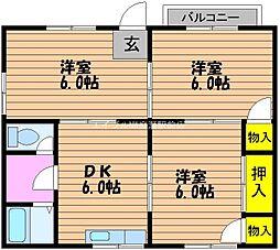 コーポアーベント[1階]の間取り